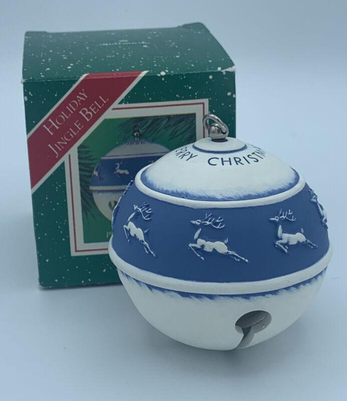 1986 Hallmark Christmas Ornament Musical Holiday Jingle Bell Wind Up Works MIB