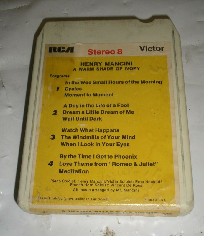 Henry Mancini - A Warm Shade Of Ivory - 8 Eight Track Tape