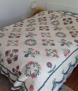 Traditional handmade quilt. + pillowcases/cushions. Queen size. NEW. Indooroopilly Brisbane South West Preview