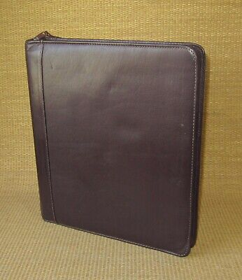 Monarch Franklin Coveyquest Burgundy Leather 1.25 Rings Zip Plannerbinder