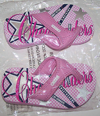 New Dallas Cowboys Cheer Cheerleader Flip Flops Sandals Pink Cute Toddler - Dallas Cowboys Cheerleader