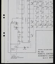 Akai RC-80 Original Remote Control Schematic Diagram o171