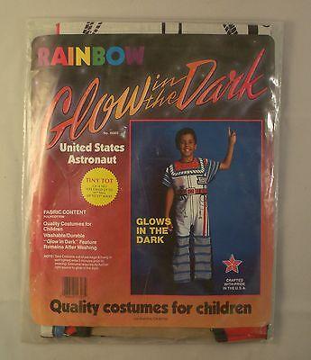 Glow in the Dark United States Astronaut Child Halloween Costume 3 - 4 Years  - Glow In The Dark Baby Halloween Costumes