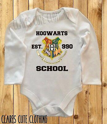 HOGWARTS CREST HARRY POTTER BABY VEST/ GROW ROMPER BODYSUIT ()