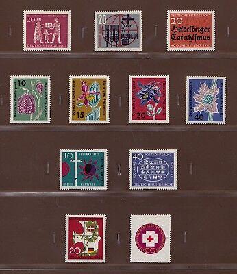 BRD JAHRGANG 1963 MINR 390 411 SATZ 392 395 401 404 408 POSTFRISCH