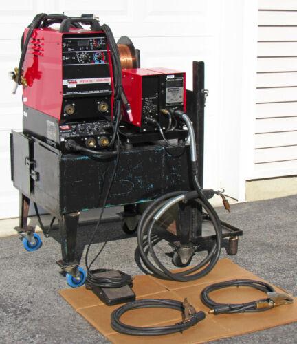 Lincoln Electric Invertec V300-PRO ARC Welder Complete MIG / TIG Set-Up w/LN-7