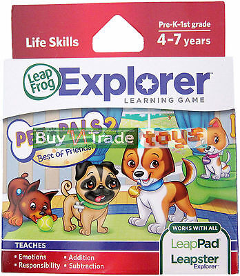 NEW Leapster Explorer PET PALS 2 Game LeapFrog LeapPad Tablet Puppy GS 2 SW on Rummage