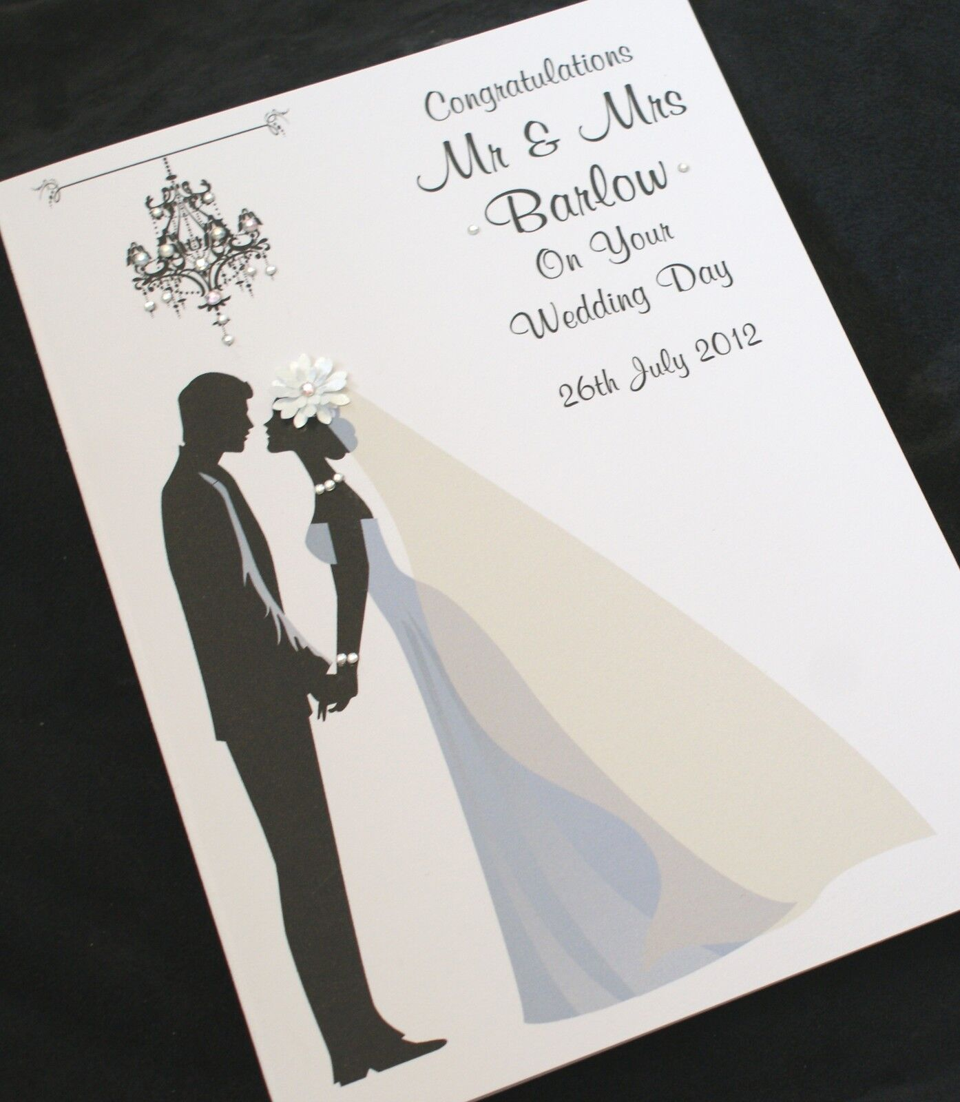 LARGE Handmade Personalise BRIDE GROOM Congratulations Wedding