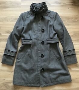 Esprit Wool Walker Coat, Gray, Size Medium (Juniors), VGUC