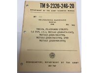 *ORIGINAL A2-A5 Organizational Maintenance for M274 Mule TM 9-2320-246-20