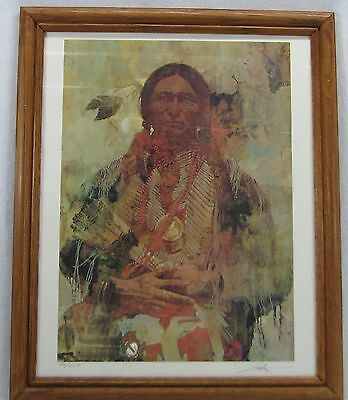 Used, Quanah Parker Comanche Chief Signed Native American Picture Lithograph Painting for sale  Huntley