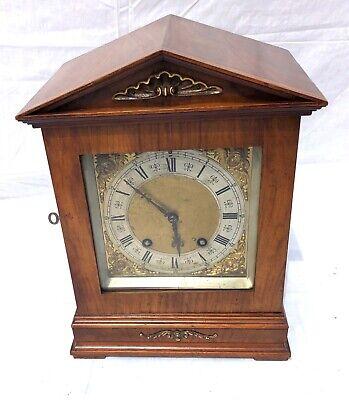 Antique Architectural LENZKIRCH Walnut TING TANG Bracket Mantel Clock WORKING