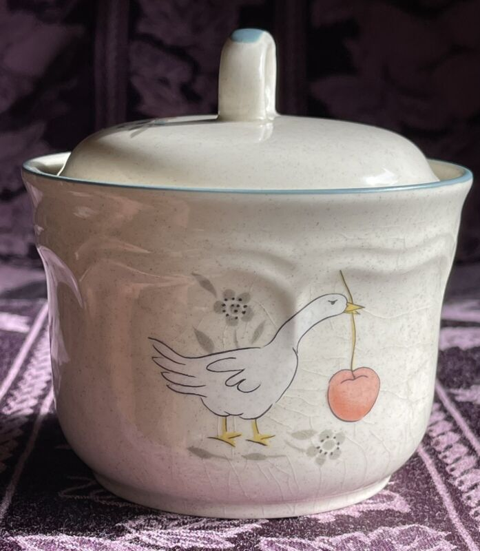 "International China ""Marmalade"" Goose Stoneware Sugar Bowl w/Lid Set"
