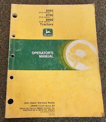 John Deere 8560 8760 8960 Tractor Operators Manual Omar111204