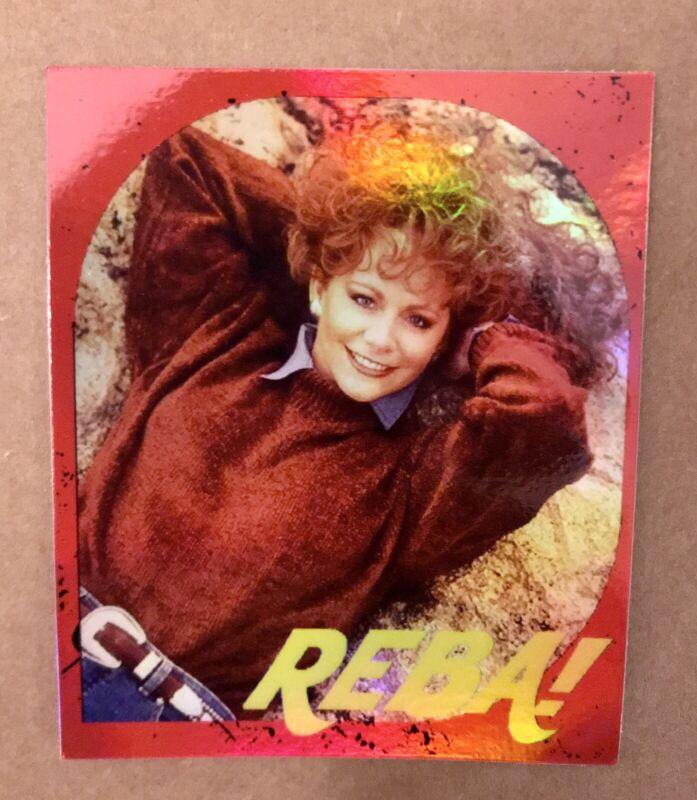 "REBA McENTIRE 3X3.5"" HOLO-DECAL/STICKER *NICE!* Custom Vintage/Retro 80s Design!"