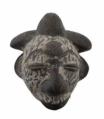 Masquette Pounou Pasport Terracotta Fetish Divination Art African 16952