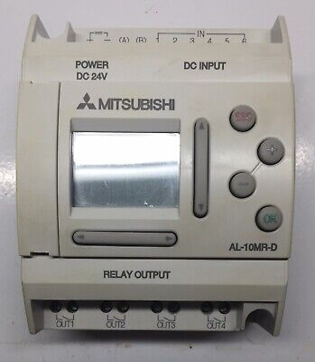 Mitsubishi Programmable Relay Al-10mr-d 24 Vdc 6 In 4 Relay Out Us Seller