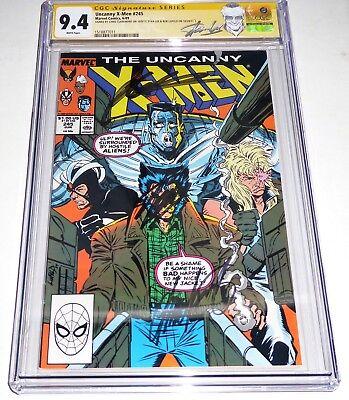Uncanny X-Men #245 3x CGC SS Siganture Autograph STAN LEE CLAREMONT ROB LIEFELD