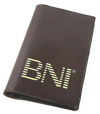 Bni 72 Card Capacity Business Card Holder Vinyl Sleeves Brown Euc