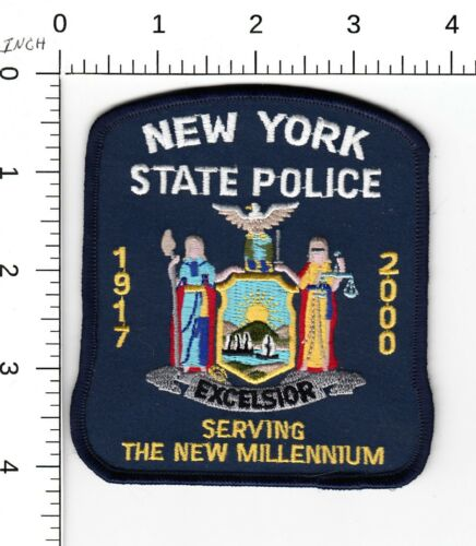 NEW YORK STATE POLICE (SERVING THE NEW MILLENNIUM, 1917-2000) NYSP PATCH NY