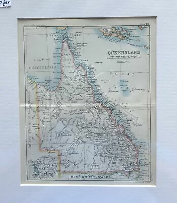1890 Map of Queensland