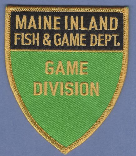 MAINE INLAND FISH & GAME DEPARTMENT GAME DIVISION ENFORCEMENT SHOULDER PATCH