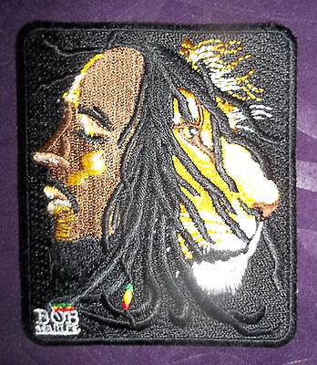BOB MARLEY PATCH LION EMBROIDERED JAMAICA  REGGAE SKA RASTA DIY SEW/IRON ON