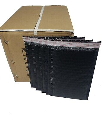 Pack 220 In Box 6 X 8 Inches Usable Size Black Poly Bubble Mailers Envelopes