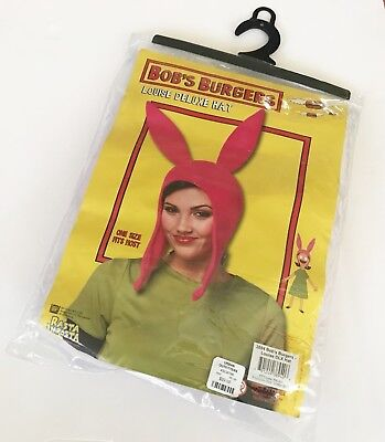 Bob's Burgers Louise Deluxe Hat Pink One Size Fits Most New Rasta Imposta - Bob's Burgers Kostüm Louise