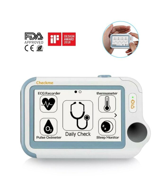 NEW Portable ECG EKG, Thermometer, Pulse, Oximeter, & Apnea , Vitals Monitor