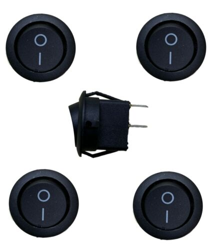 5 PCS ROUND ROCKER SWITCHES 12V ROUND TOGGLE ON OFF 12 VOLT CAR SNAP IN SWITCH