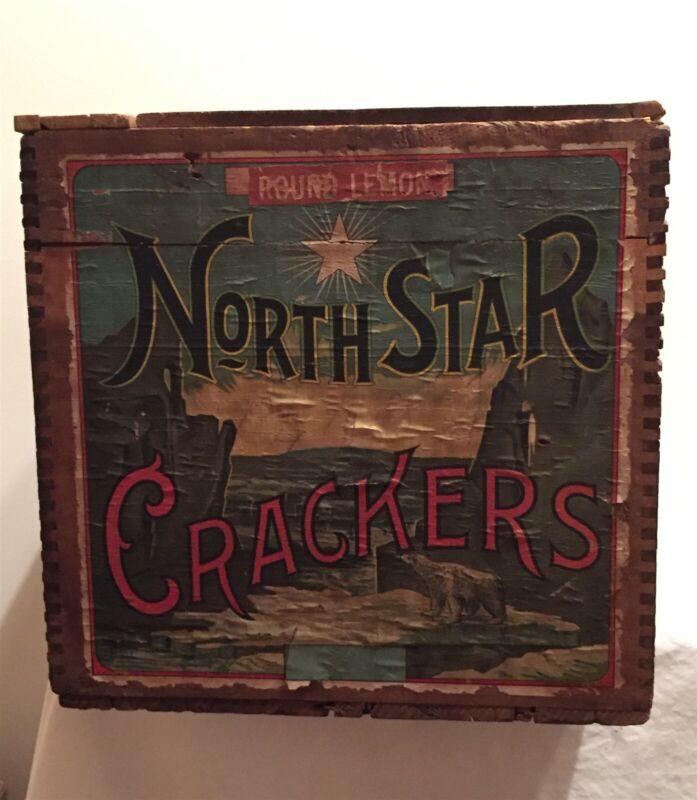 North Star Crackers Wood General Store Box - Polar Bear, Glacier !
