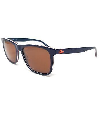 LACOSTE Sunglasses L875S 424 Blue Modified Rectangle Men's 56x17x145