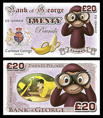 Curious George Novelty Banknotes / Party Bag Fillers ()