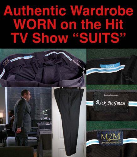 "LOUIS LITT ""SUITS"" WARDROBE CUSTOM DRESS PANTS w/ LOUIS TAG Worn By RICK HOFFMAN"