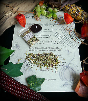 SAMHAIN INCENSE BLESSING RITUAL Wiccan Pagan Halloween Witchcraft  - Pagan Halloween Blessing