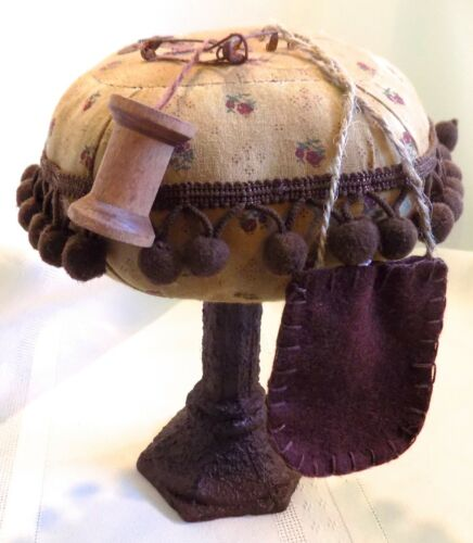 Antique PRIMITIVE PIN CUSHION on Stand Add Ons