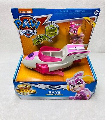 Nickelodeon Paw Patrol Mighty Pups Super Paws Skye's Deluxe Vehicle Toy *NEW*