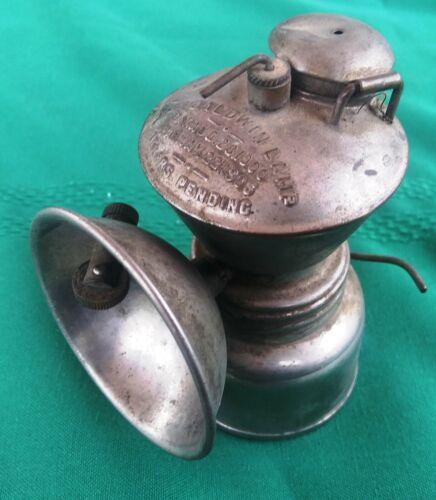 Baldwin carbide miners lamp John Simmons Co. N.Y. marked