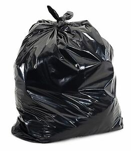 50 Large 55 Gallon Commercial Trash Can Bags Heavy Garbage Duty Yard, 1.5 Mil