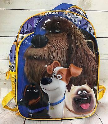 The Secret Life Of Pets Backpack Bookbag  Max Buddy Mel Duke