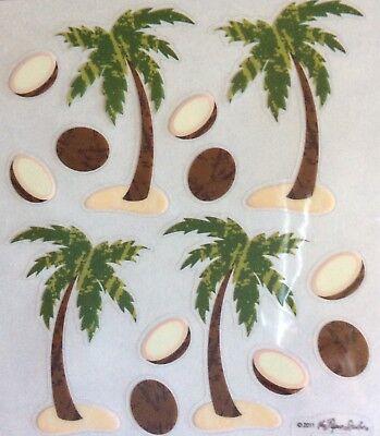 Palm Tree Coconut Scrapbook Stickers