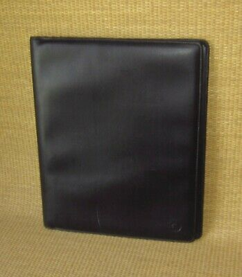 Monarch Franklin Covey Black Sim. Leather Wire Bound Planner Notepad Cover