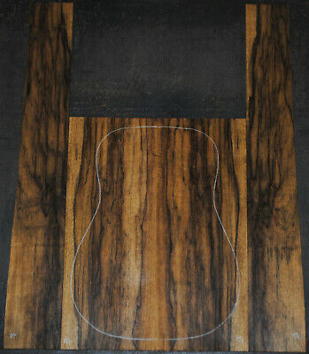 Black Limba acoustic guitar back and Side set Luthier Tonewood