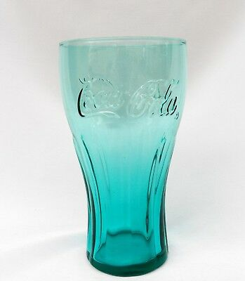 MCDONALD' S COCA COLA COKE TEAL GREEN GLASS TUMBLER