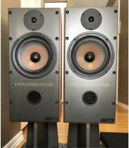'85 MISSION 737 Renaissance UK Speakers Walnut Cabinets /Stands​