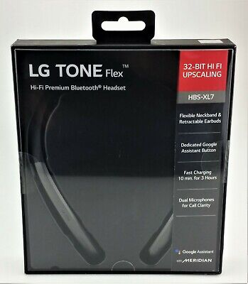 LG TONE Flex HBS-XL7 Bluetooth Wireless Stereo Headset Black Excellent Shape