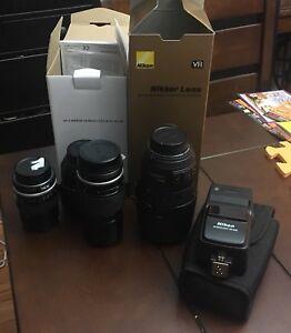 Nikon lens and flash