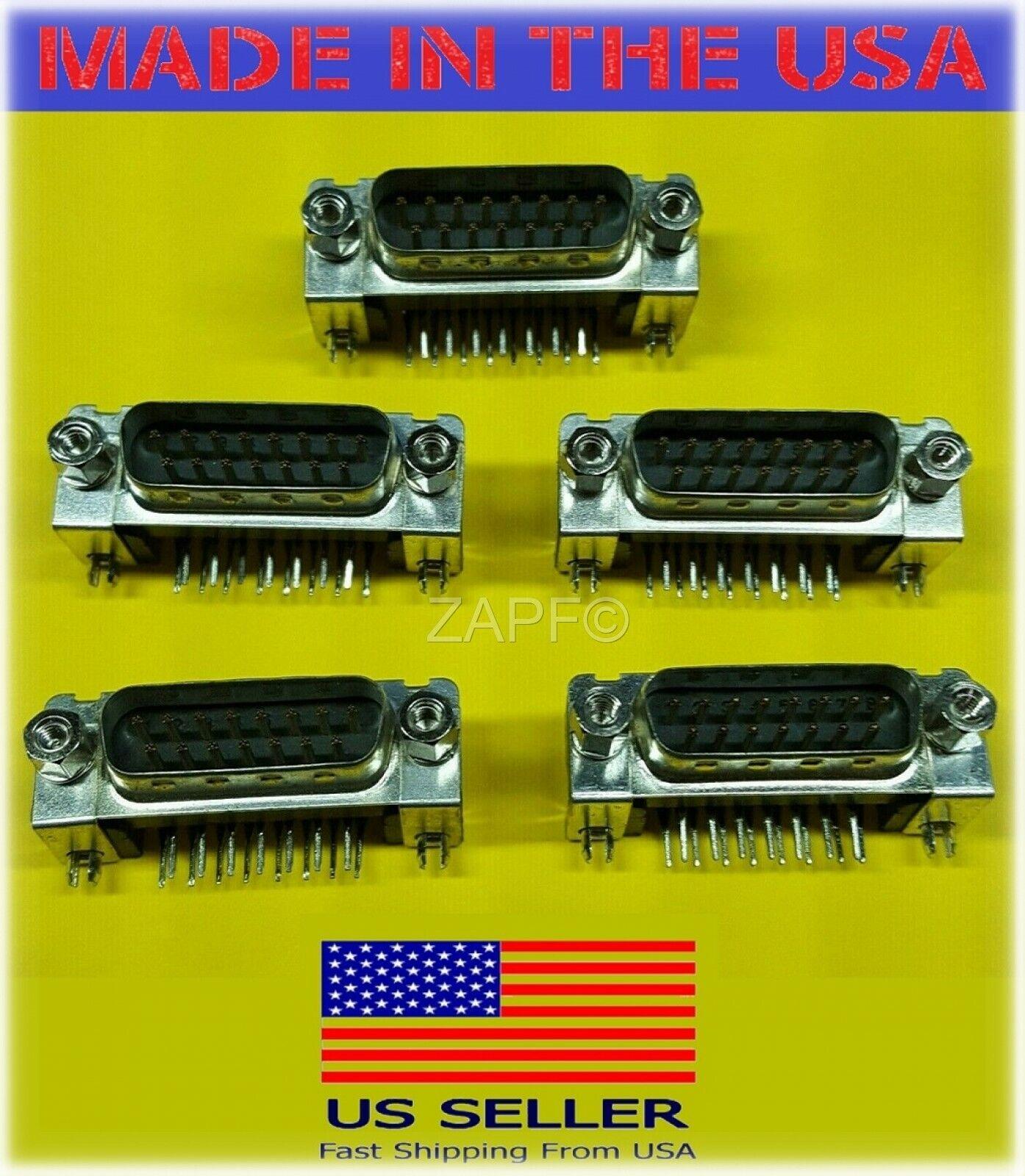 50PCS 9Pin D-SUB Male DB9M PCB Solder Type Connector