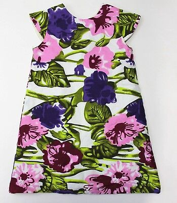 Indego Africa for the babes Multi-Color Floral Print on Ivory A Line Dress 3T